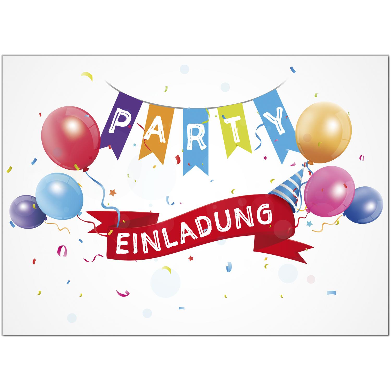 Einladungskarten Kinder Geburtstag Party