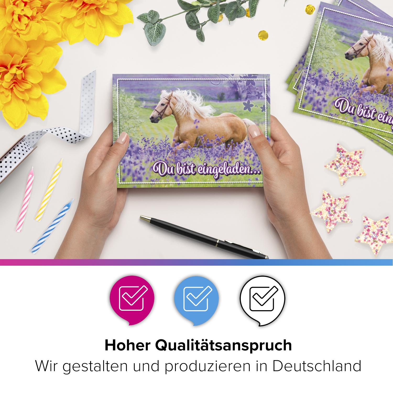 Einladungskarten Kinder Geburtstag Pferd