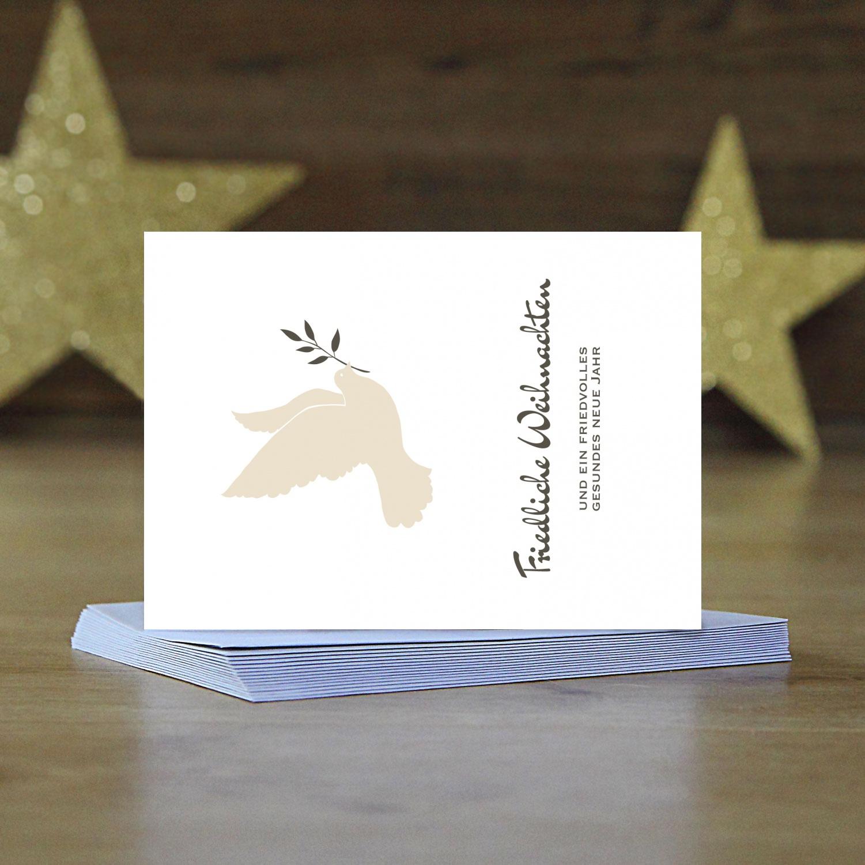 15 x weihnachtskarten friedenstaube edel im postkarten. Black Bedroom Furniture Sets. Home Design Ideas