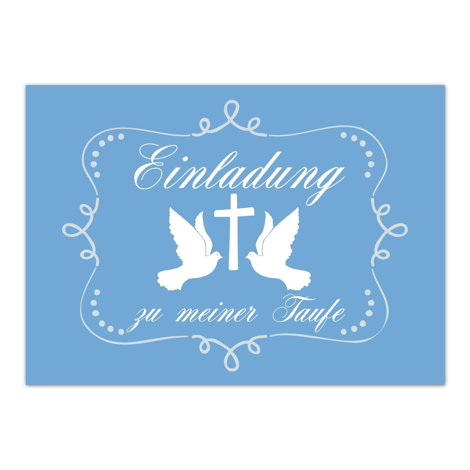 Baby Taufkarte 15 X Einladung Zur Taufe Mit Umschlag Im Set