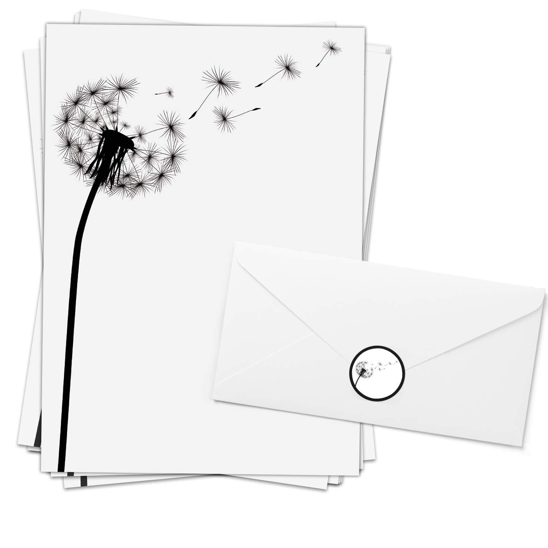 Motiv-Briefpapier Trauer 100 Blatt selbst bedrucken