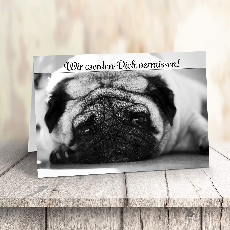 A4 Große Abschiedskarte mit Umschlag zur Rente Pension Konfetti Ruhestand