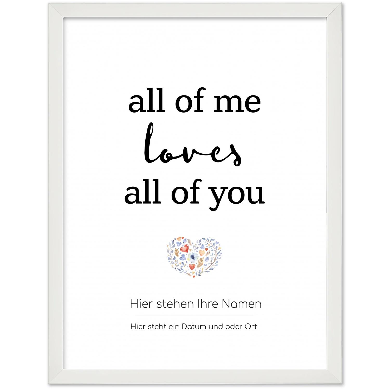 Du /& ich l/äuft Namen Datum personalisiert ohne Bilderrahmen dina4 30x40 cm Personalisiertes Geschenk Hochzeit//paare Poster Personalisiert Liebe
