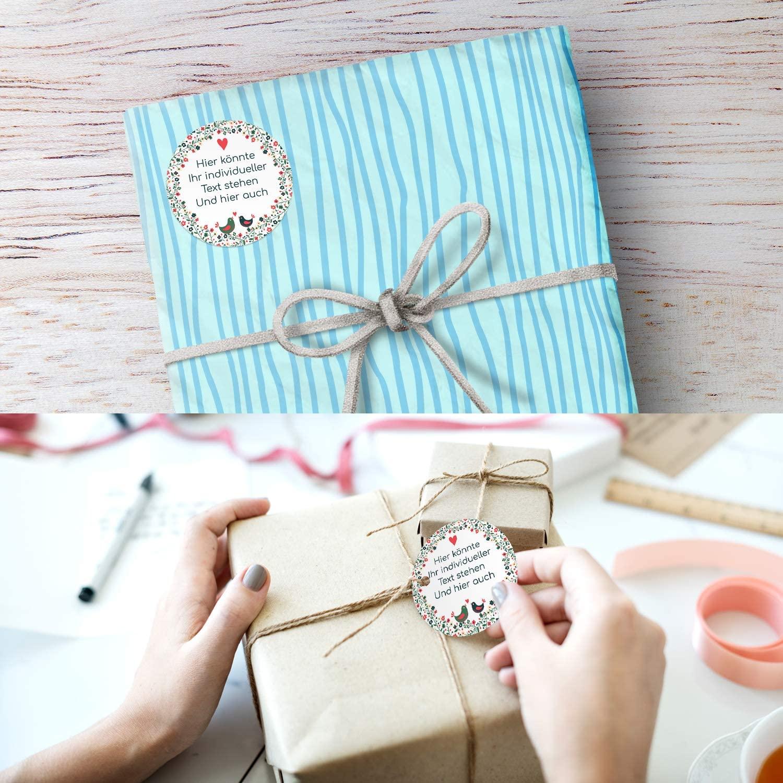24 personalisierte Aufkleber Wunschtext Geschenk deko Hochzeit Taufe set grau 1